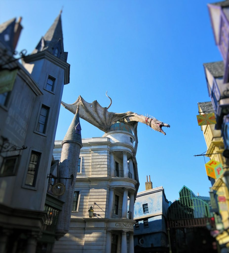 dragon at the wizarding world of harry potter fl